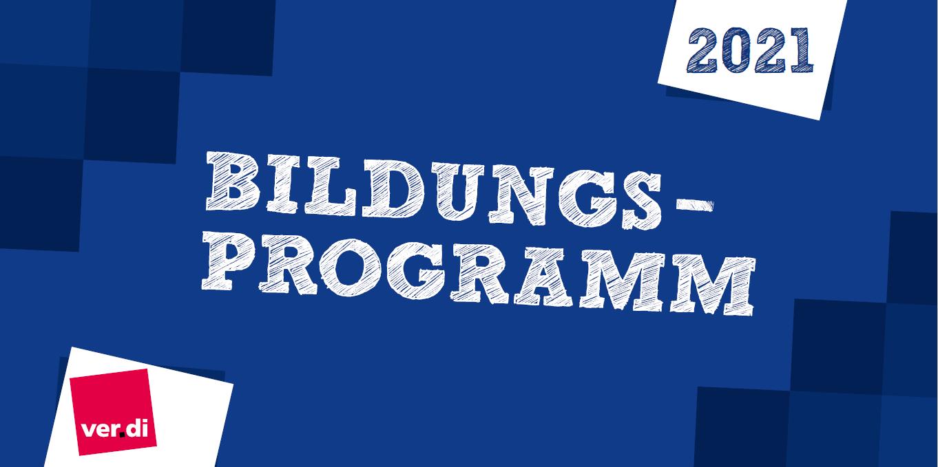 Deckblatt Bildungsprogramm 2021