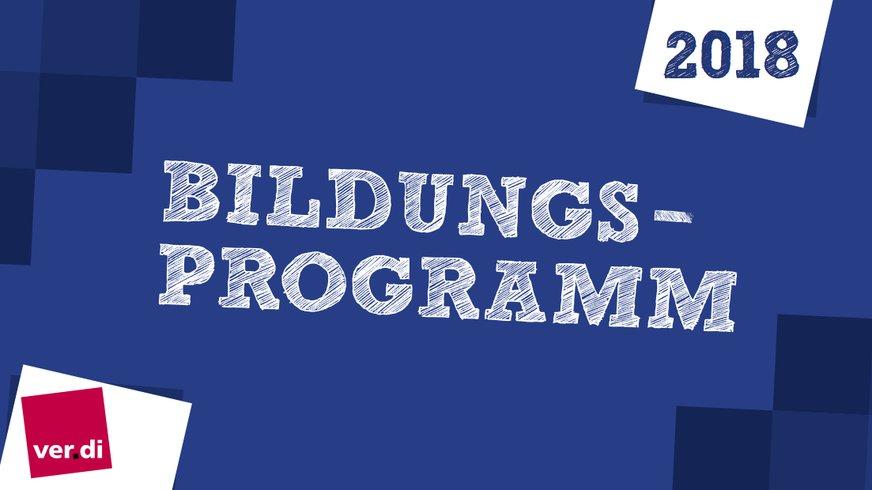 Deckblatt Bildungsprogramm 2018