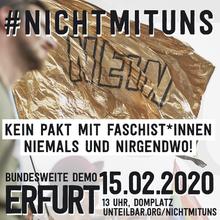 Demo, #unteilbar, Erfurt, Landesbezirk SAT, Thüringen, Demokratie, Aufruf, Gegen Rassismus, Gegen Rechts,