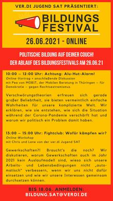 Flyer für das Bildungsfestival