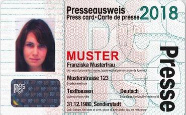 dju Presseausweis 2018, Nachricht, Information, Medien Kunst Industrie, Landesbezirk SAT, Journalismus
