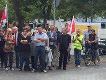 Kundgebungsteilnehmer am 22.08.2016 in Magdeburg